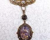 Amethyst Purple Opal Swag Style Necklace