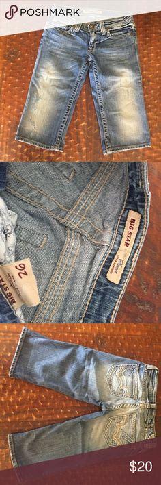 "Big Star bermuda shorts, size 26, good condition! Big Star bermuda shorts, size 26, 15"" inseam, good condition! Big Star Shorts Jean Shorts"