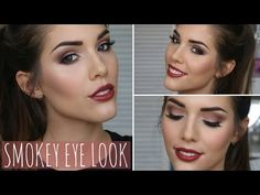 Brown Smokey Eye Makeup Tutorial | ft. Too Faced Chocolate Bar Palette   white chocolate as a base and on broebone, strawberry bon bon on lid, hot chocolate in crease, candid violet in outer corner, cherry cordial in outer V