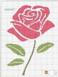 punto de cruz | Dibujos Punto de Cruz Gratis: Rosa Pink- Punto de cruz