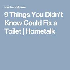 9 Things You Didn't Know Could Fix a Toilet | Hometalk
