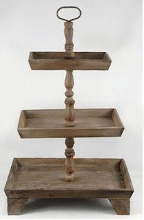 tiered wooden display shelf