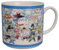 Amazon.com: Moomin Valley Tove 100 Years Anniversary Porcelain Mug Cup Made in Japan: Kitchen & Dining