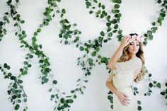 greenery wedding backdrops - photo by Lori Romney Photography http://ruffledblog.com/bohemian-valentines-day-inspiration