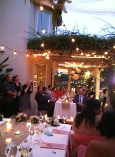 Back yard wedding reminds me of the Amick breeze way! Perfect for you guys!