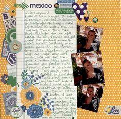 Cute journaling format using A Charmed Life collection from Simple Stories