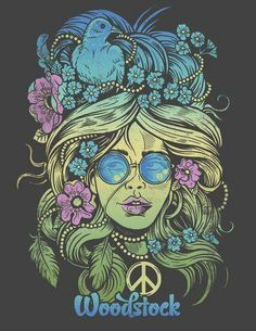It's Fan Art Friday! This one comes to us from Derrick Castle Submit your Woodstock fan art using and we'll repost some of our favorites! Hippie Peace, Happy Hippie, Hippie Love, Hippie Style, Hippie Vibes, Psychedelic Art, Woodstock Poster, Flower Power, Hippy Art