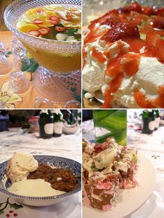 Top left: fruit punch (without alcohol!) Top right: pavlova, traditional Australian dessert of meringue and fruit topping Bottom left: Boiled pudding with custard and hazelnut ice-cream Bottom right: Rocky Road   #christmasrecipes #christmasdessert