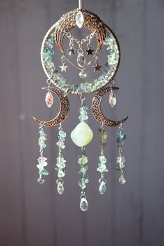 Wire Crafts, Jewelry Crafts, Dream Catcher Decor, Deco Studio, Wiccan Decor, Sun Catcher, Wire Art, Wire Jewelry, Wind Chimes