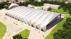 COMPLEXO ESPORTIVO ESEF-UFRGS Folding Architecture, Parametric Architecture, Studios Architecture, Concept Architecture, Arquitetos Zaha Hadid, Zaha Hadid Architects, Membrane Structure, Timber Structure, Roof Design