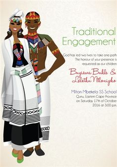 Downloadable South African Xhosa Traditional Wedding Ceremony Invitation