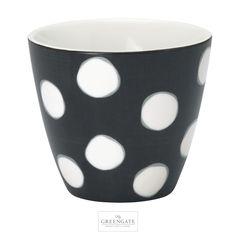 GreenGate latte cup Paula dark grey AW16