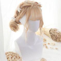 Hairstyle Drawing Gradient Harajuku Lolita Short Wig - Material: made of artifact heat-resisting hair fiber. Mens Braids Hairstyles, Kawaii Hairstyles, Pretty Hairstyles, Drawing Hairstyles, Woman Hairstyles, Anime Wigs, Anime Hair, Wig Styles, Short Hair Styles