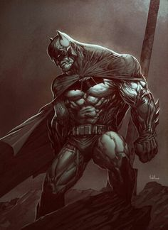 Batman Dark knight 2 by Raciel Avila on ArtStation. Batman Painting, Batman Artwork, Batman Wallpaper, Arte Dc Comics, Bd Comics, Robin Comics, Comic Book Characters, Comic Book Heroes, Dc Heroes
