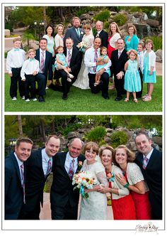 Having family members wearing matching ties or color coordinating dresses gives a cohesive look; plus it looks very put together in photos. Photo Courtesy of Stacey Kay Photography