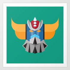 Grendizer [Tribute to Go Nagai] - Ufo Robot Art Print by Gianluca Gentile