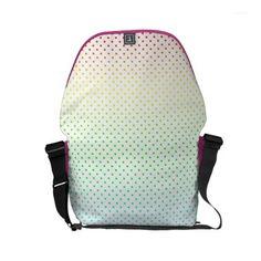 Rainbow-color polka dots small messenger bag - accessories accessory gift idea stylish unique custom