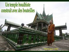 o/ #Lindo Templo budista construído com garrafas PET by Gisela Kassoy, via Slideshare
