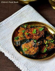 Spicy Brinjal fry recipe - Yummy South Indian side dish for rice !