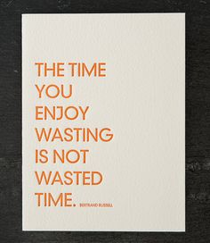 bertrand russell quote. letterpress card. 225 by shopsaplingpress