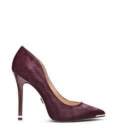 Michael Kors Avra Haircalf And Snakeskin Pump Cute Shoes, Designer Shoes, Heeled Boots, Stiletto Heels, Christian Louboutin, Michael Kors, Pumps, Sandals, Sneakers