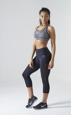 Gymshark DRY Sculpture Cropped Leggings Black. Order yours > https://www.gymshark.com/products/gymshark-dry-sculpture-cropped-leggings-black