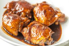 Just like my favorite chicken adobo, I always enjoy eating Sweet Chicken Asado for either lunch or dinner -- I don't even mind having the leftovers the next day for breakfast. This Sweet Chicken Asado was inspired by the pork asado recipe that I published back then when I was starting this food blog.