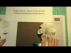 Origami White Tea Lace Paper Doily Flower - Tutorial - YouTube