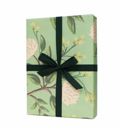 Emerald Peonies Set of 3 rolled wrapping sheets from Rifle