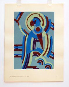 Original Vintage Serge Gladky Composition Decoratives by HodesH, $35.00