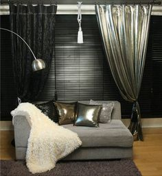 Fab Handmade Silver Metallic Curtain Drapery Panel Room Divider Order to Made | eBay