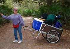 Cumberland Island. easy push carts for gear shuttle