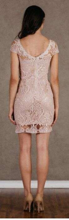 Sequin Royale Blush Bodycon Mini Dress Light Pink - Back . This is a cute mini dress for this summer and cocktail party! Cute Short Dresses, Mini Dresses, Sexy Dresses, Dresses For Sale, Summer Dresses, Formal Dresses, Dinner Dresses, Skater Dress, Party Dress