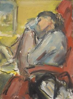 Ghislaine Howard, Young Woman Sleeping on a Train | Paintings For Sale | Specialists In Modern British Art | Gateway Gallery Ltd