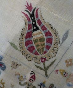 embroidered bed-cover from Skyros, circa Benaki Museum Benaki Museum, Contemporary Decorative Art, Greek Pattern, Embroidered Bedding, Naive Art, Vintage Embroidery, Islamic Art, Design Crafts, Athens