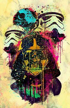Darth Vader aquarela