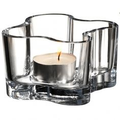 iittala Aalto Votive Candle Holder - Clear The iittala Alvar Aalto votive candle holders are inspired by Alvar Aalto's famous vase design. These lead-free glass votive candle holders have tall sides that gently wave and curve like the flicker o. Glass Votive Candle Holders, Candlestick Holders, Votive Candles, Candle Sconces, Candlesticks, Candels, Candleholders, Alvar Aalto, Helsinki