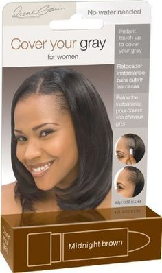Fisk Industries Irene Gari Cover Your Grey for Women Touch Up Stick Midnight Brown ** More details @