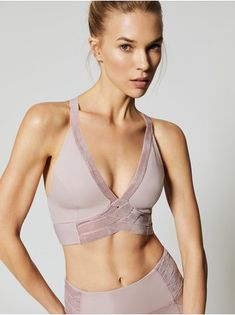 Wonderstruck Velvet in Pink by Free People Movement from Workout Attire, Workout Wear, Workout Tanks, Womens Workout Outfits, Sport Outfits, Velvet Bra, Pretty Lingerie, Yoga Wear, Fitness Fashion