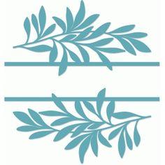 Silhouette Design Store: split leaf title