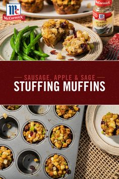 2 Easy Homemade Caramel Popcorn Recipes Stuffing In Muffin Form? What Could Be Better? These Easy Savory Muffins Are Loaded With Tons Of Traditional Stuffing Flavors Like Sage, Apple And Sweet Sausage. You'll Never Make Traditional Stuffing Again. Thanksgiving Side Dishes, Thanksgiving Recipes, Fall Recipes, New Recipes, Holiday Recipes, Soup Recipes, Dinner Recipes, Cooking Recipes, Favorite Recipes