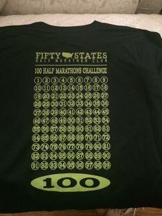 Fifty States Half Marathon Club LLC - 100 Half Marathons LADIES New Balance Tech Shirt v-neck Short Sleeve, $32.95 (http://halfmarathonclub.mybigcommerce.com/100-half-marathons-ladies-new-balance-tech-shirt-v-neck-short-sleeve/)