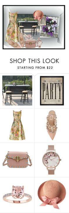 """Party Time"" by donnyprabowo ❤ liked on Polyvore featuring Darlee, Hatcher & Ethan, Adrianna Papell, Valentino and Olivia Burton"