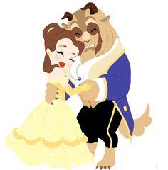 Beauty and the Beast (Disney) - Beast, Prince Adam x Belle Walt Disney, Cute Disney, Disney Girls, Disney Magic, Princesa Disney Bella, Disney Princess Belle, Disney And Dreamworks, Disney Pixar, Disney Characters