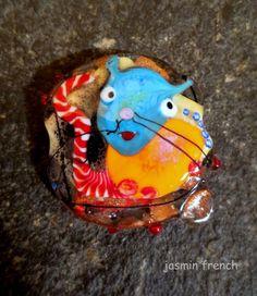 °° jasmin french °°kitty  lampwork beads set sra on ebay.com