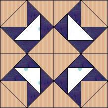 """Quilt-Pro Systems - Quilt-Pro - Block of the Day-Goose Star-Finished block= 6""""x6"""", strip-piecing directions/Fabric Strips: 44"""" long.  You can subscribe to free updates for block of the day and download as a pdf pattern.Available to ALL quilters, regardless whether you own software programs. VisitSite: http://www.quiltpro.com/page/BlockOfDay"""