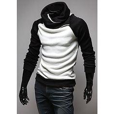 Contraste+Baseball-shirt+manches+chandail+de+couleur+pour+hommes+-+EUR+€+31.18