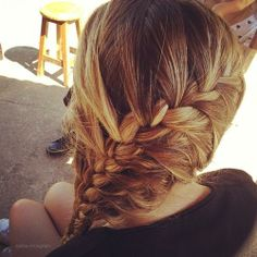 cute hair i could do this if my hair was long enough
