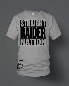 7f9533d8e Straight Raider Nation T-Shirt (New) Oakland Raiders Silver  amp  Black in