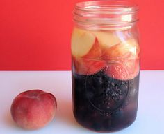 A delicious fruit Infused water recipe featuring peaches, blueberries and blackberries. It keeps your heart and skin healthy and gives a boost of vitamin C!